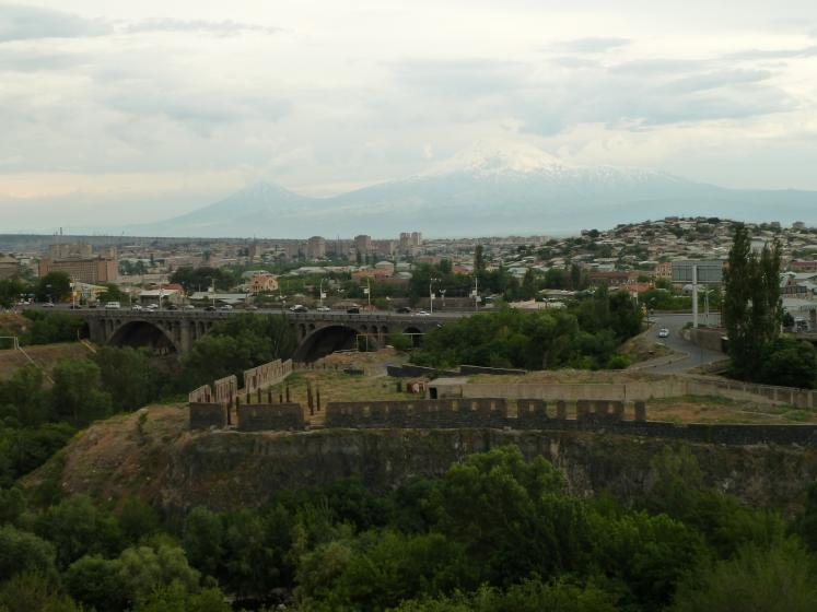 World Travel Photos :: Armenia :: Victory Bridge in Yerevan and Ararat Mountain