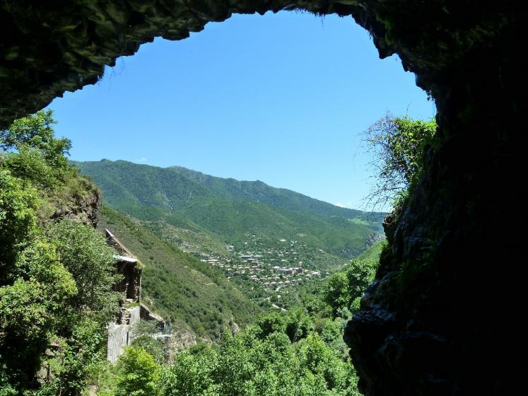 World Travel Photos :: Armine :: View from a cave in the mountains near Kobayr monastery, Armenia