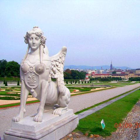 World Travel Photos :: Parks :: Vienna. Sphynx of Belveder Palace