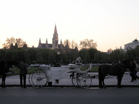 World Travel Photos :: Palaces & cathedrals :: Vienna. Sunset ride