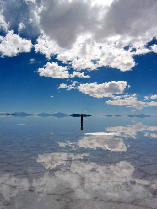 World Travel Photos :: Reflections :: Bolivia. Uyuni Salt Flats - reflection