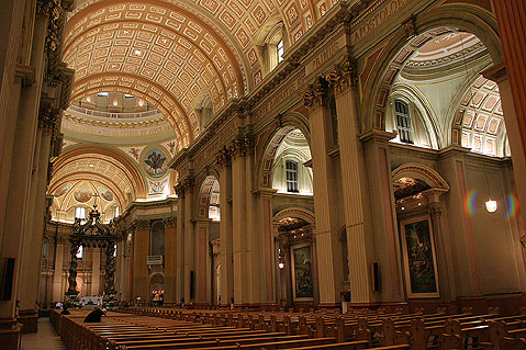 World Travel Photos :: Canada - Quebec - Montreal :: Montreal. Mary, Queen of the World Cathedral - Interior