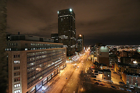 World Travel Photos :: Canada - Quebec - Montreal :: Montreal. View from the window.