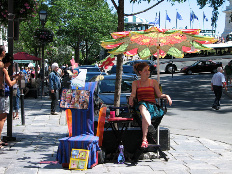 World Travel Photos :: Alec :: A face painting booth in Quebec City