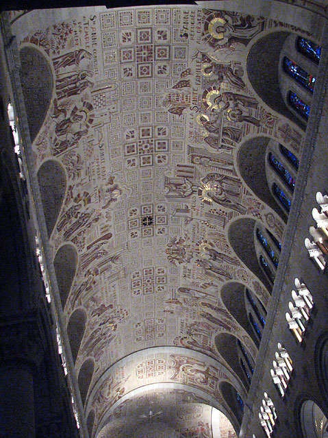 World Travel Photos :: Churches :: Ceiling in the Basilica of Sainte-Anne-de-Beaupré