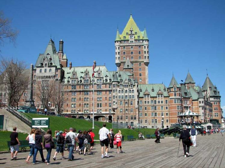 World Travel Photos :: Old City :: Quebec City. The Château Frontenac