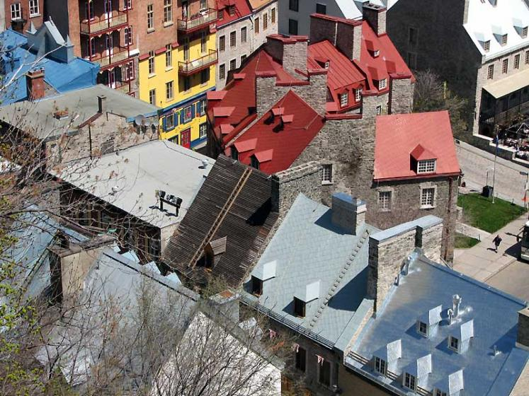 World Travel Photos :: Old City :: Quebec City. View on old port district from above