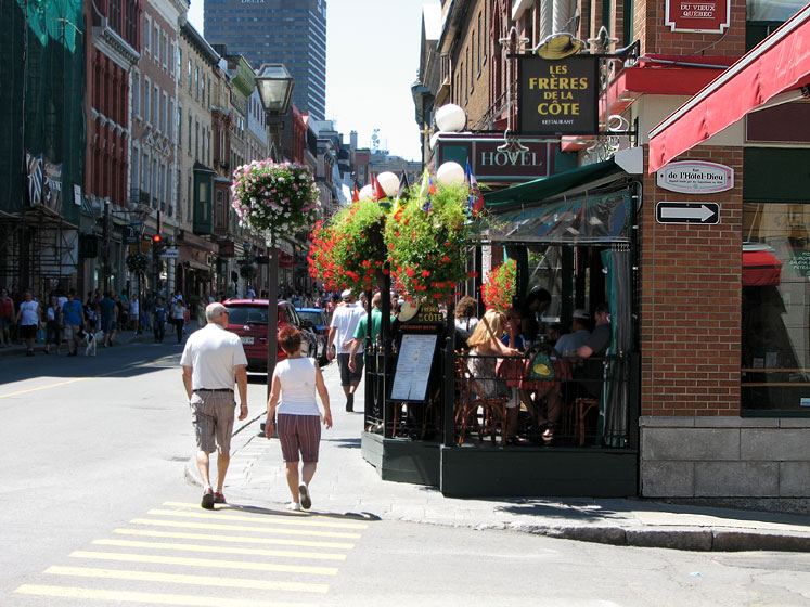 Canada Quebec City Restaurants In The Old City World Travel