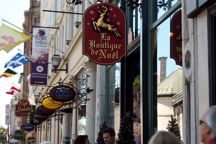 World Travel Photos :: Shop-Signs :: Quebec City - shop signs