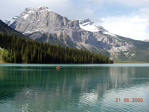 World Travel Photos :: Canada - Rocky Mountains :: Canada. Malign Lake in Rocky Mountains
