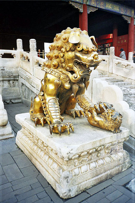 World Travel Photos :: China - Beijing :: Beijing. Lion in the Forbidden City