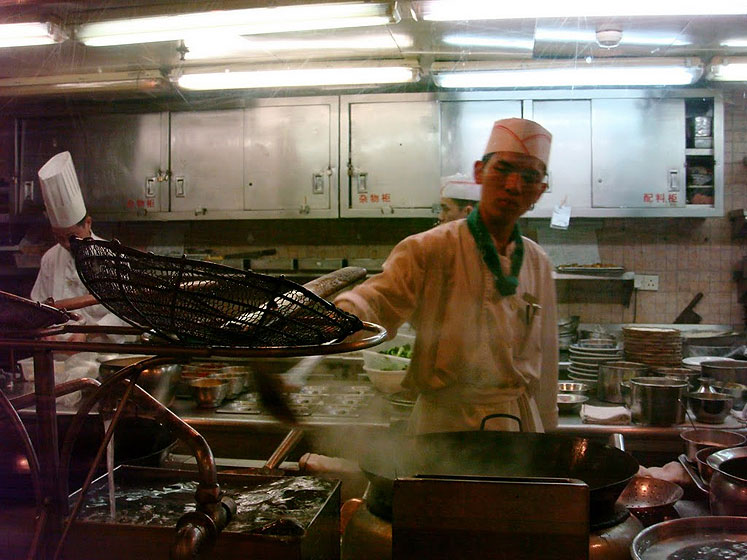 World Travel Photos :: Polin :: Guangzhou - a kitchen at the restaurant