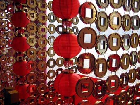 World Travel Photos :: Chinese New Year :: Hong Kong. Chinese New Year decorations outside Harbour City
