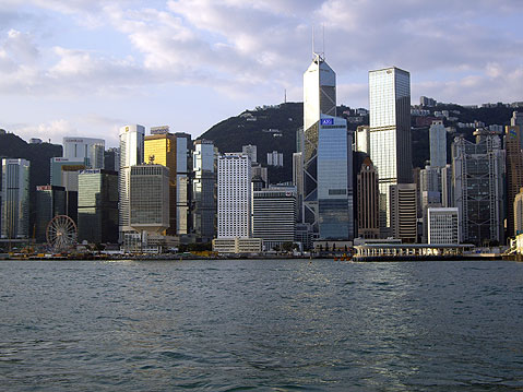 World Travel Photos :: Victoria harbour :: Hong Kong. City View from Harbor