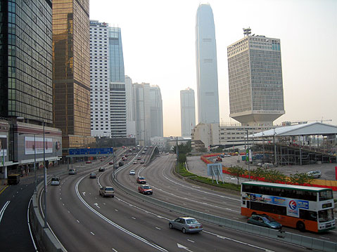 World Travel Photos :: City views :: Hong Kong. Connaught Road