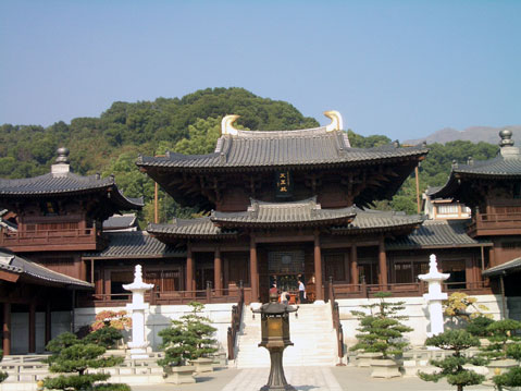 World Travel Photos :: China - Hong Kong :: Hong Kong. Front Entrance of Chi Lin Nunnery