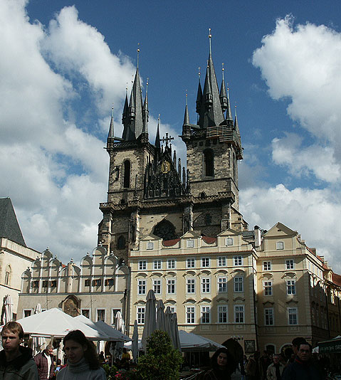 World Travel Photos :: The most famous buildings  :: Prague. The Church of Our Lady in front of Týn