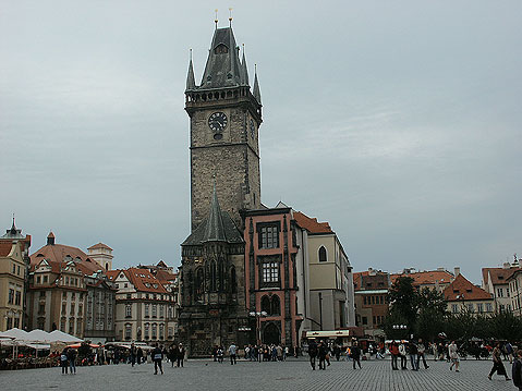 World Travel Photos :: Main Square :: Prague. Old City Hall on the Main Square
