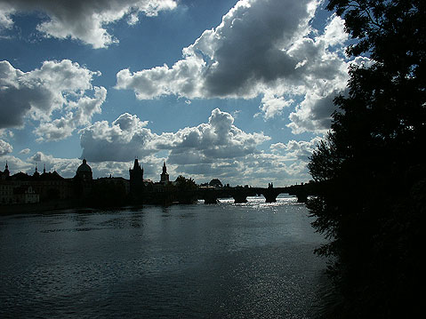 World Travel Photos :: Panoramic views :: Prague. View on Vltava River and Charles Bridge