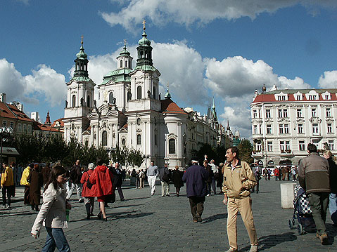 World Travel Photos :: Czech Republic - Prague :: Prague. Staromestka Square and St. Nicholas Cathedral