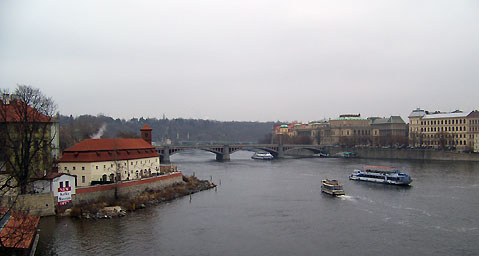 World Travel Photos :: Panoramic views :: Prague. View on Vltava river