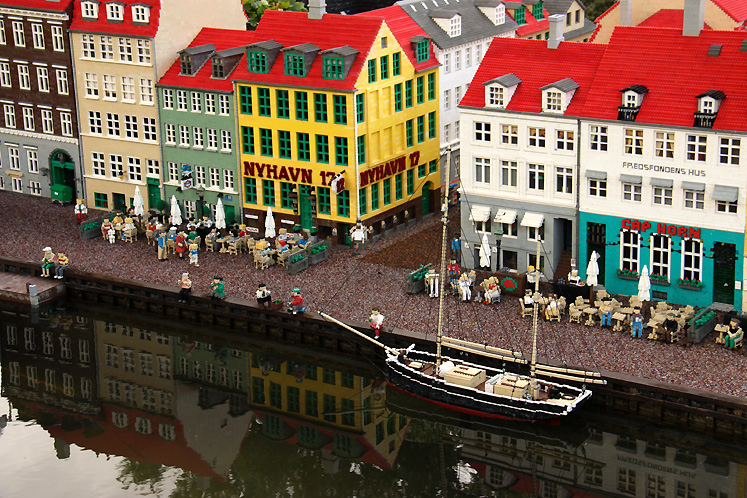 World Travel Photos :: Denmark - Billund - Legoland :: Billund. Legoland - Nyhavn in Copenhagen