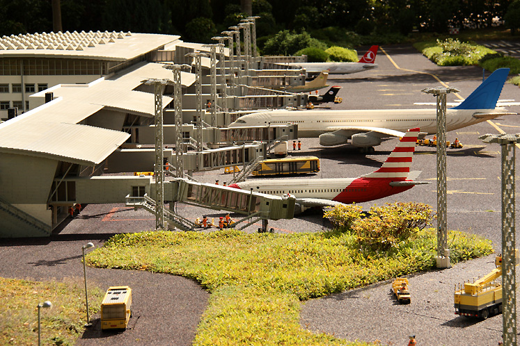 World Travel Photos :: Denmark - Billund - Legoland :: Billund. Legoland - a mini  airport made out of LEGO
