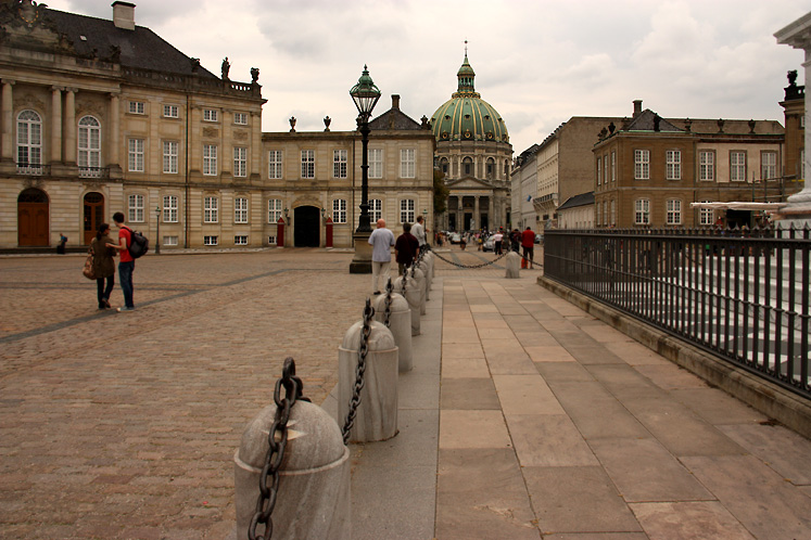 World Travel Photos :: Denmark - Copenhagen :: Copenhagen. Royal Palace and Frederik´s Church