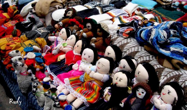 World Travel Photos :: Rudy Chaim :: Dolls - Indian market in the city of Otavalo