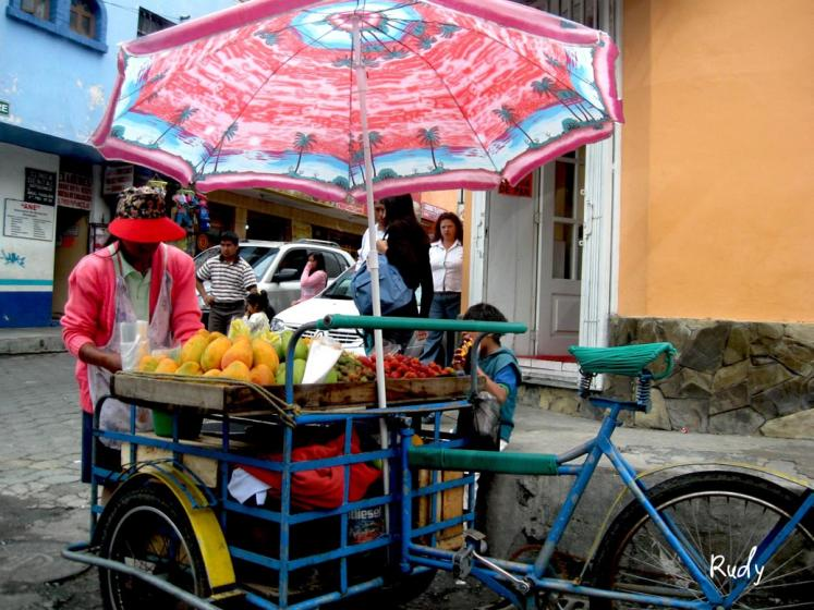 World Travel Photos :: Rudy Chaim :: Ecuador. Selling fruit juice in Sangolqui