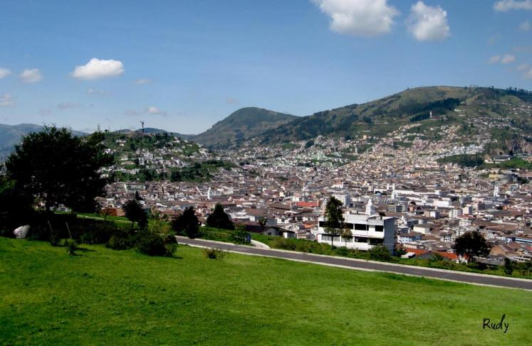 World Travel Photos :: Ecuador  - Misc :: A view of the central part of Quito the capital city of Ecuador