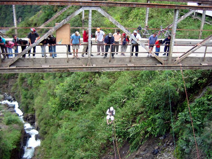 World Travel Photos :: Ecuador - Baños :: Bungee Jumping in Baños