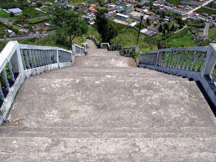 World Travel Photos :: Ecuador - Baños :: Baños - the stairs