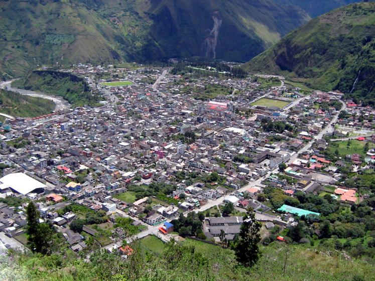World Travel Photos :: Panoramic views :: Equador. Baños - view from above