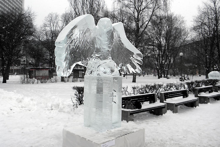 World Travel Photos :: vano :: Tallinn. An owl made of ice