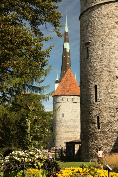 World Travel Photos :: visitor :: Tallinn - a view on the tower of St.Olaf`s Church