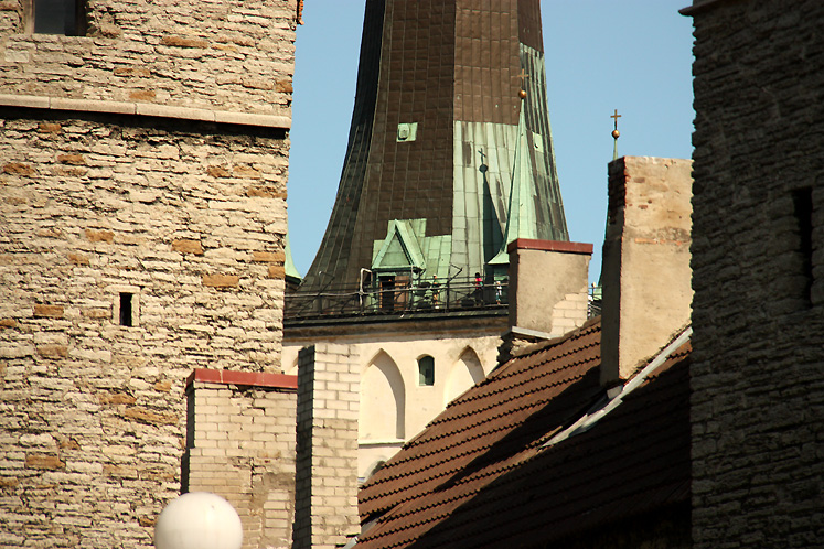 World Travel Photos :: visitor :: Tallinn - an observation deck of the St. Olaf`s Church