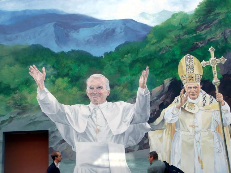 World Travel Photos :: France - Lourdes :: Lourdes. Two popes
