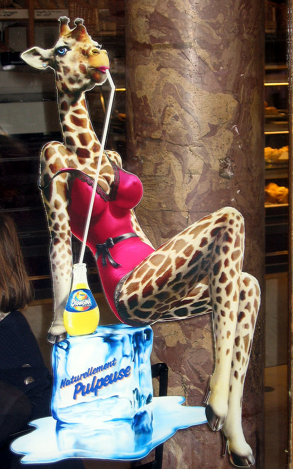 World Travel Photos :: Lel Keshet :: Paris. Sexy giraffe