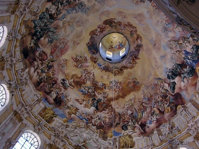 World Travel Photos :: Religious buildings :: Germany. Ettal. Ceiling in the Monastery