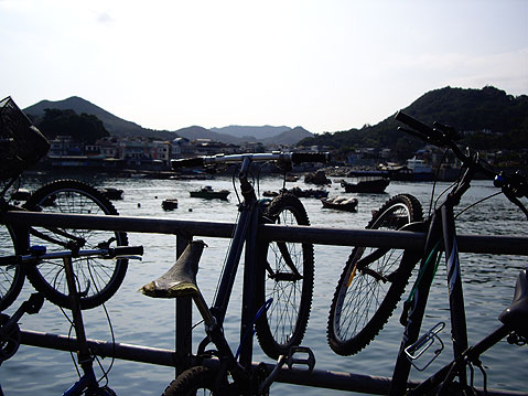 World Travel Photos :: China - Hong Kong - Lamma Island :: Hong Kong. Lamma Island - bicycles´ parking