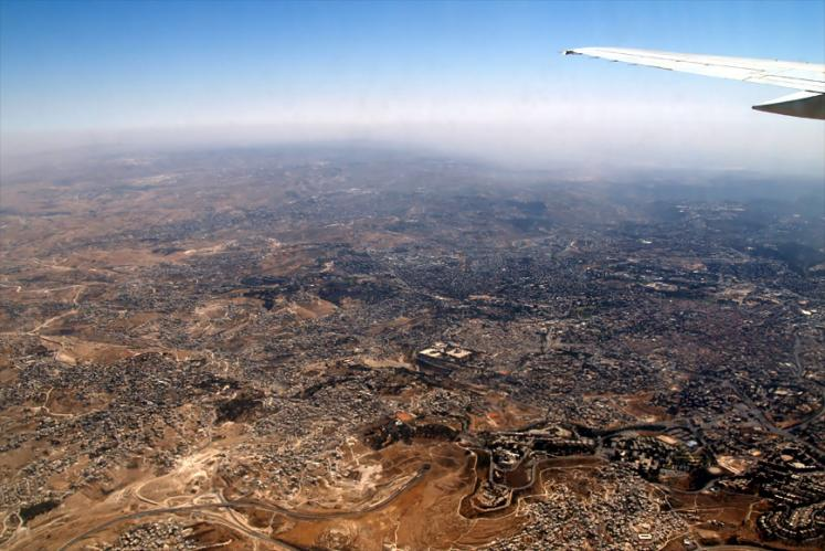 World Travel Photos :: Vladimir Kopolovich :: Jerusalem from 6km height