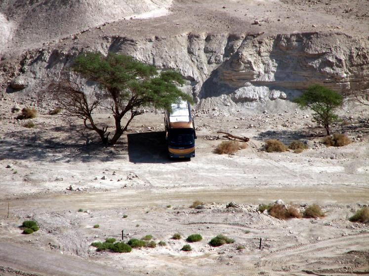 World Travel Photos :: Israel - Negev Desert :: Israel. Negev desert - a lonely bus