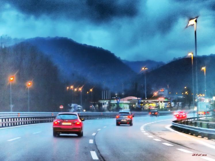 World Travel Photos :: Italy - Misc :: Italy. Autostrada A7 Milano-Genova