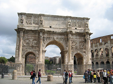 World Travel Photos :: Remains of Roman Empire :: Rome. Arch of Constantine (Arco Di Constantino)