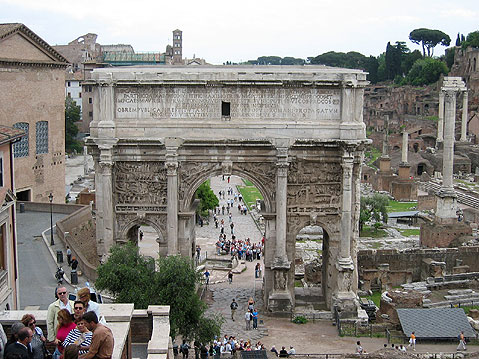 World Travel Photos :: Remains of Roman Empire :: Rome. Arco di Settimio