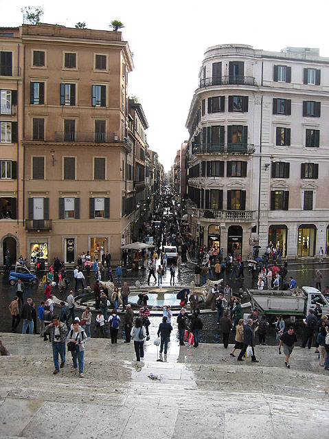 World Travel Photos :: Landmarks around the world :: Rome. Spanish Steps after the rain