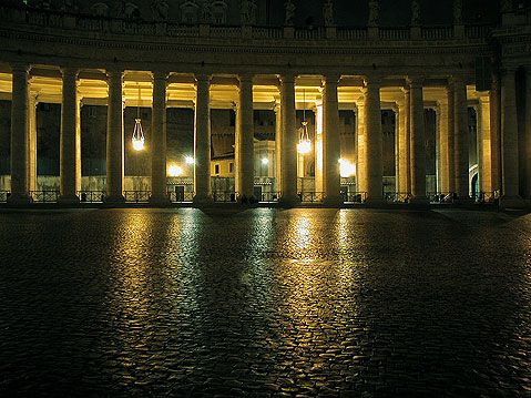 World Travel Photos :: Italy - Rome :: Rome. Fragment of St. Peter´s Cathedral at Night