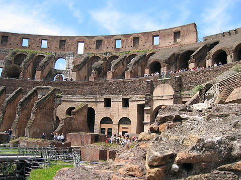 World Travel Photos :: Coliseum :: Rome. Coliseum Inside