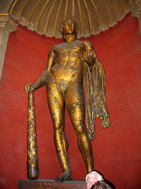 World Travel Photos :: Italy - Vatican :: Vatican Museums. Bronze statue of Hercules